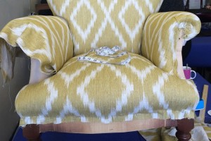 Applying the new material for the armchair